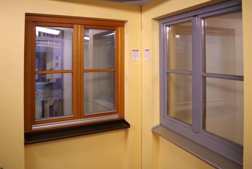 Holzfenster und Holz-Alu-Fenster Ausstellung pmt Kolbermoor - Fenster für Rosenheim und München