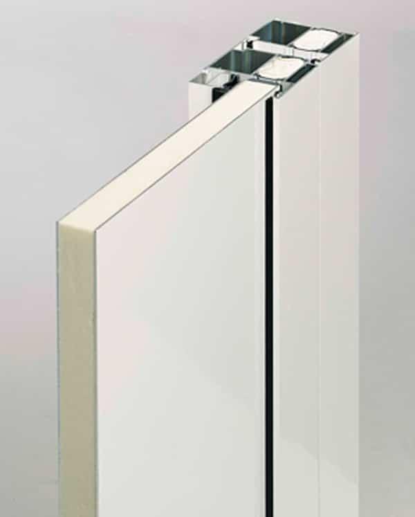 Aluhaustür Querschnitt KompaktPlus Füllung eingesetzt - pmt Haustüren für Rosenheim und München