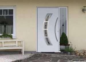 Aluminium-Haustüren Wirus Modell Ems mit Seitenteil - pmt Aluhaustüren für München und Rosenheim