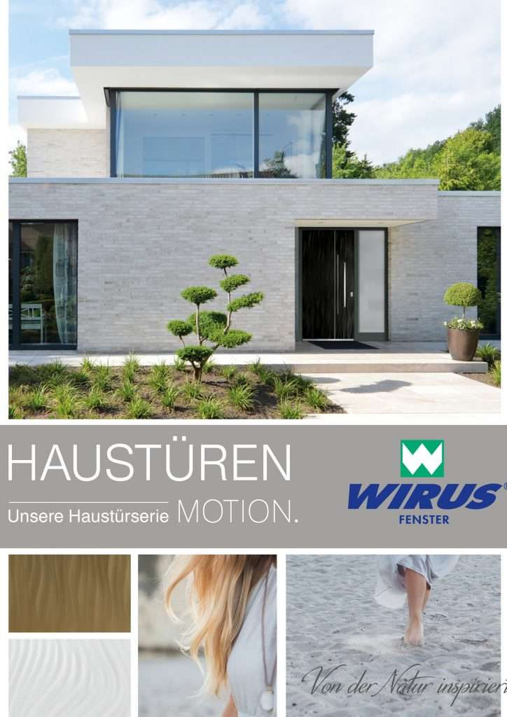 Katalog Aluminium-Haustüren Wirus Motion - pmt Aluhaustüren für München und Rosenheim