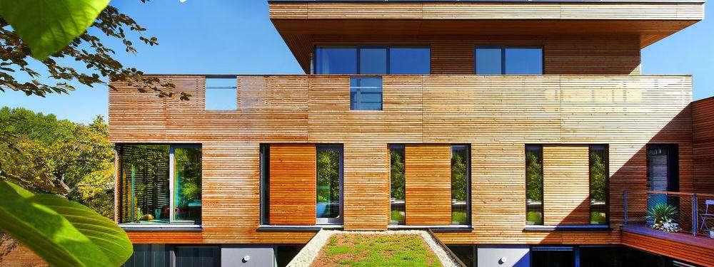 Alu-Schiebeläden mit Holzfüllung, Fensterläden Griesser - pmt Schiebeläden für München und Rosenheim