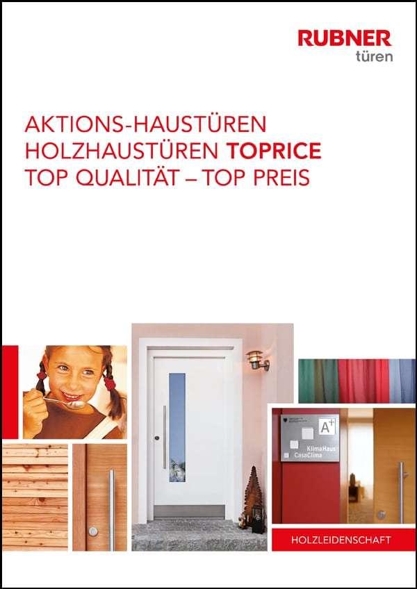 Flyer Aktion Toprice günstige Rubner Holzhaustüren - pmt Haustüren für Rosenheim und München