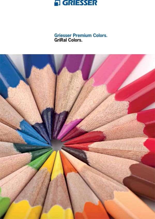 Flyer Griesser RAL Premium Colors für Alu-Schiebeläden, Fensterläden - pmt Schiebeläden für München und Rosenheim