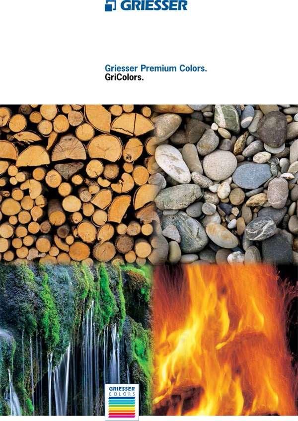 Flyer Griesser Premium Colors für Alu-Schiebeläden Fensterläden - pmt Schiebeläden für München und Rosenheim