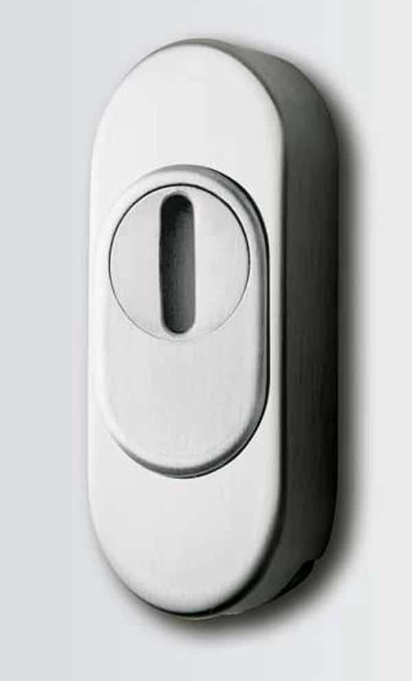 Haustüren Sicherheitsrosette Edelstahl mit Kernziehschutz - Sicherheit Haustür