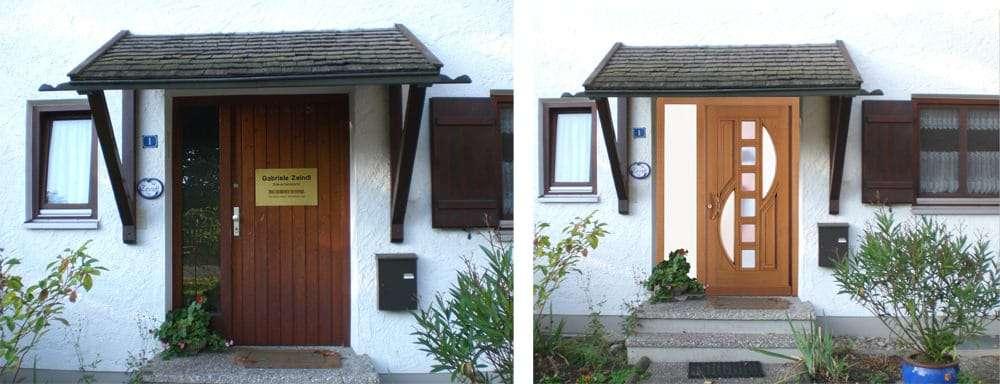 Haustüren-Fotomontage Rubner Holzhaustür H47 Fink Bad Aibling