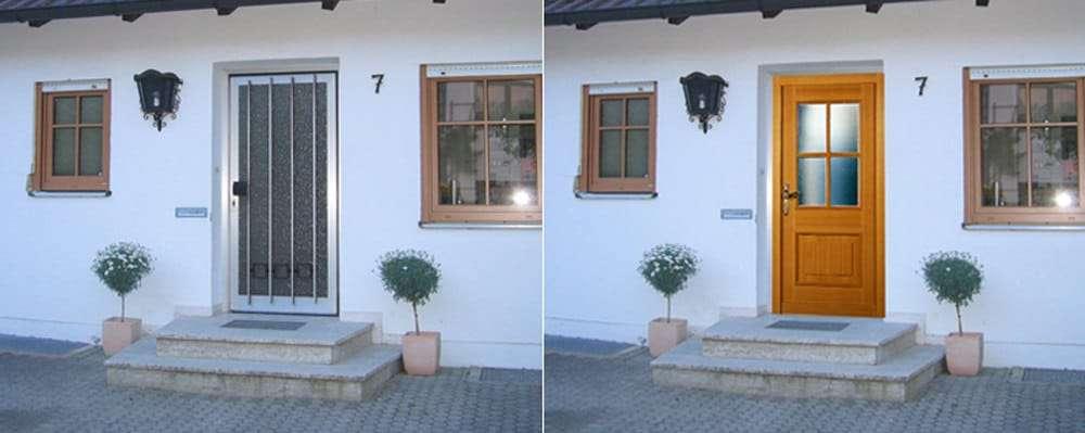 Haustüren-Fotomontage Rubner Holzhaustür H 2 SPR