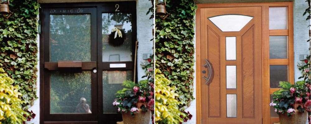 Haustüren-Fotomontage Rubner Holzhaustür mit Seitenteil S5 in Kolbermoor