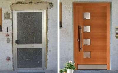 Haustüren-Fotomontage ein Service von pmt - Haustüren für München und Rosenheim