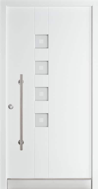 Kirschaum Holzhaustür Rubner Modell H 97 weiss - pmt Haustüren für Rosenheim und München