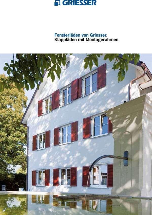 Katalog Alu-Klappläden mit Montagerahmen, Fensterläden - pmt Fensterläden für München und Rosenheim