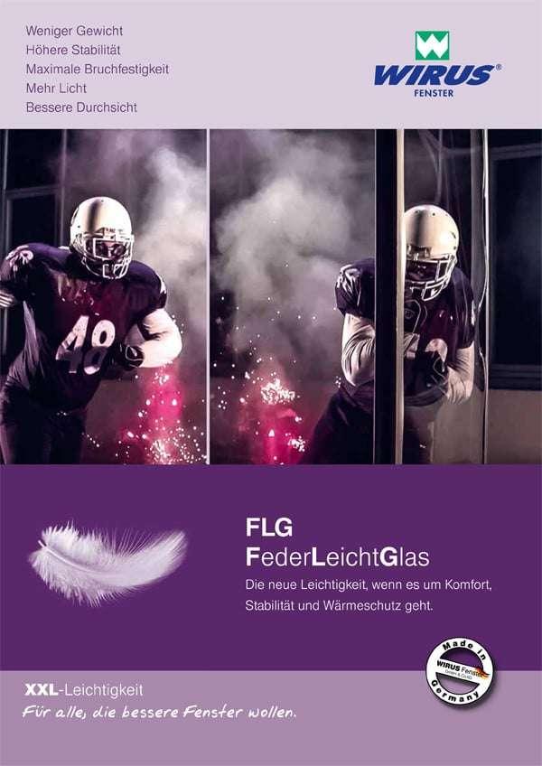 Broschüre FederLeichtGlas FLG Wirus Fenster - pmt Fenster für München und Rosenheim