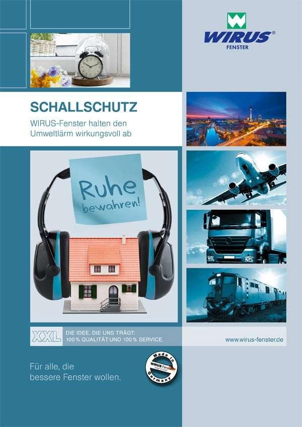 Broschüre Schallschutz Wirus Kunststofffenster - pmt Fenster für Rosenheim und München