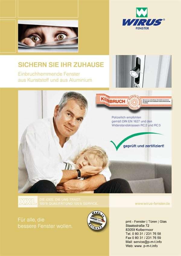 Broschüre Sicherheit Kunststofffenster, Aluminiumfenster Wirus - pmt