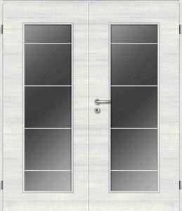 Zimmertür zweiflügelig mit Lichtausschnitt und Verglasung - pmt Innentüren für Rosenheim und München
